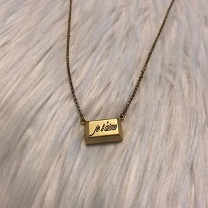 """Lia Sophia """"Je Taime"""" Gold Necklace"""